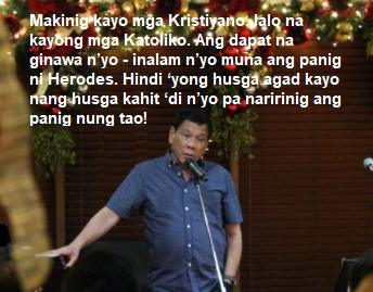 EXCLUSIVE! DUTERTE'S CHRISTMAS MESSAGE